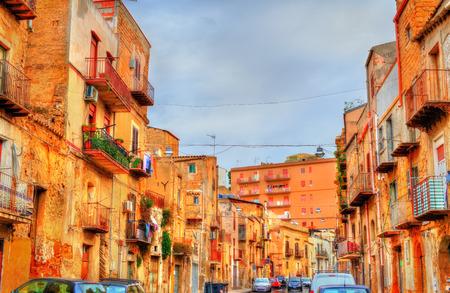 아그 리젠 토, 시칠리아, 이탈리아의 전통 건물 스톡 콘텐츠