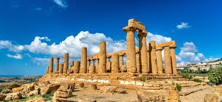 The Temple of Juno in the Valley of the Temples at Agrigento, Sicily