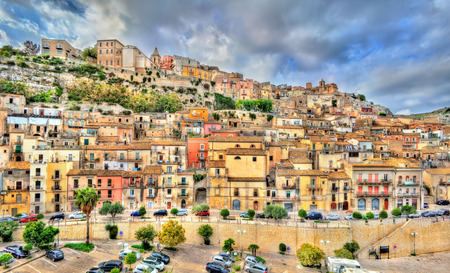 View of Ragusa, town on Italian island of Sicily. Stock Photo