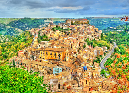 View of Ragusa, a heritage town in Sicily, Italy