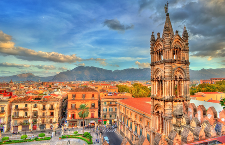 Palermo Cathedral,  in Sicily, Italy Stock Photo