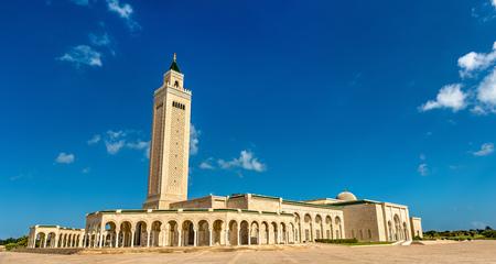 Malik Ibn Anas Mosque in Carthage, Tunisia Stock Photo