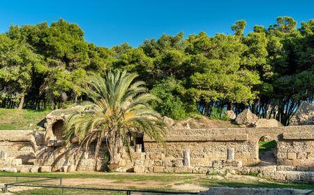The Carthage Amphitheater, an acient Roman amphitheater in Tunis, Tunisia