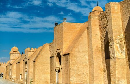 Walls of the Great Mosque of Kairouan in Tunisia