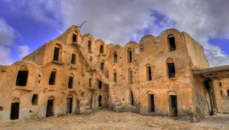 Ksar Ouled Soltane near Tataouine, Tunisia 스톡 콘텐츠