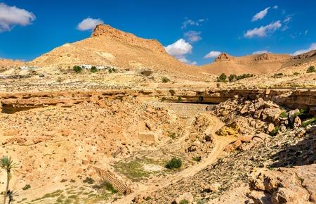 Arid landscape near Chenini in South Tunisia
