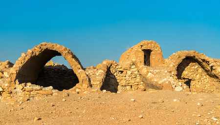 Ksar Ouled Debbab, a fortified village near Tataouine, Southern Tunisia Reklamní fotografie