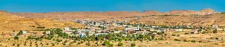 Panorama of Tataouine, a city in southern Tunisia Stock Photo