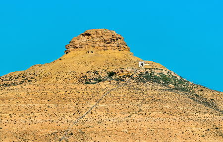 Hill near Tataouine in Southern Tunisia