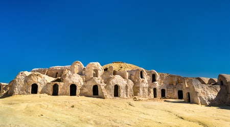 Ksar Hallouf, a fortified village in the Medenine Governorate, Southern Tunisia. Africa