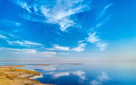 Chott el Djerid, an endorheic salt lake in Tunisia