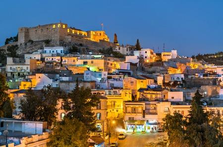 Night skyline of El Kef, a city in northwestern Tunisia