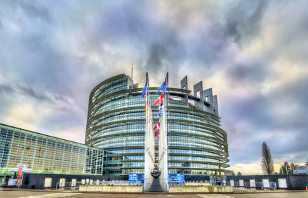 Sitz des Europäischen Parlaments in Straßburg, Frankreich