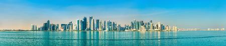 Skyline von Doha, der Hauptstadt von Katar.