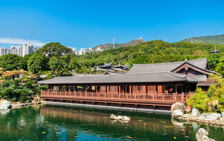 Nan Lian Garden, a Chinese Classical Garden in Hong Kong Stock Photo