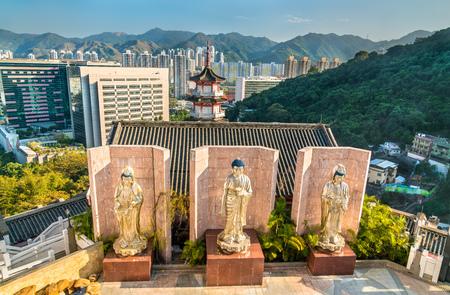 Statues at Po Fook Hill Columbarium in Hong Kong, China Stock Photo