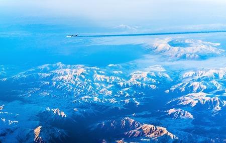 Aerial view of mountains in Northern Anatolia, Turkey Stock Photo