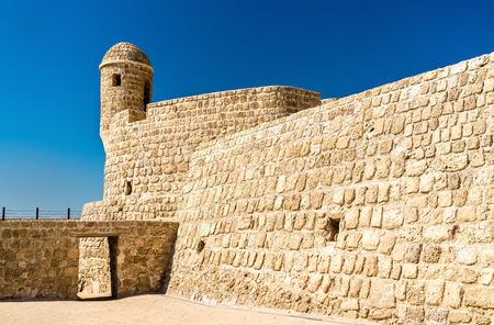 Watch Tower at Bahrain Fort. Stock Photo