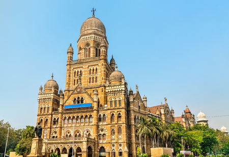Municipal Corporation Building. Built in 1893, it is a heritage building in Mumbai, India