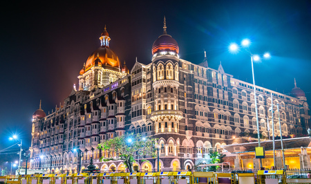 Taj Mahal Palace, a historic builging in Mumbai. Built in 1903 Banco de Imagens