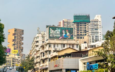 Buildings on Hughes Road in South Mumbai, India