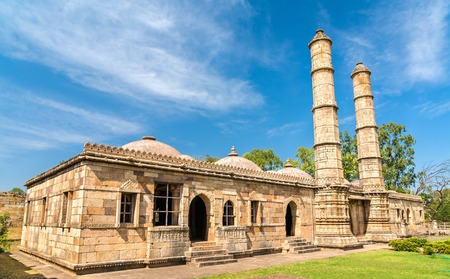 Sahar Ki Masjid at Champaner-Pavagadh Archaeological Park. Stock Photo