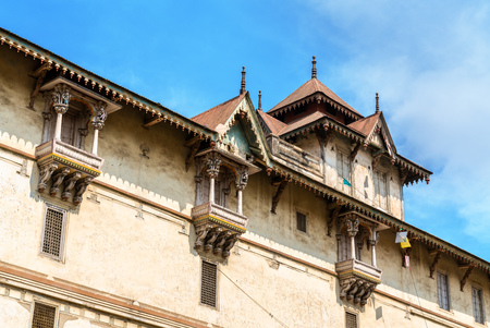 Kalupur Swaminarayan Mandir, a hindu temple in the old city of Ahmedabad - Gujarat, India