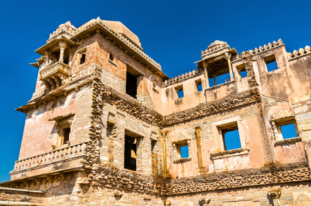 Rana Kumbha Palace at Chittor Fort. Rajastan State of India