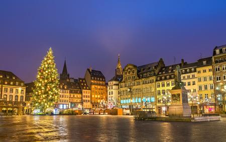 Christmas tree on Place Kleber in Strasbourg, France