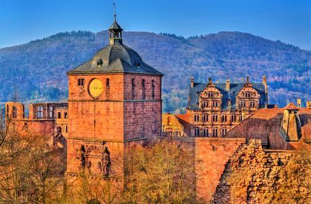 Ruins of Heidelberg Castle in Baden-Wurttemberg state of Germany Stock fotó - 100078221
