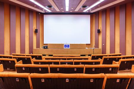 Room in the Palace of Europe, the seat of the Council of Europe. Strasbourg, France