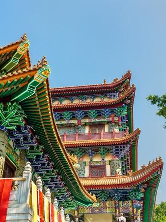Das Po Lin-Kloster befindet sich auf dem Ngong Ping-Plateau auf der Insel Lantau in Hongkong
