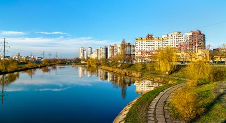 View of the Troieshchyna district of Kiev, Ukraine
