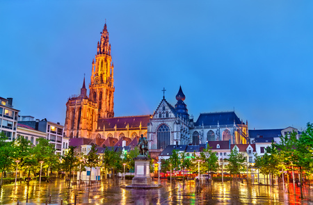 The Cathedral of Our Lady in Antwerp. A UNESCO world heritage site in Belgium