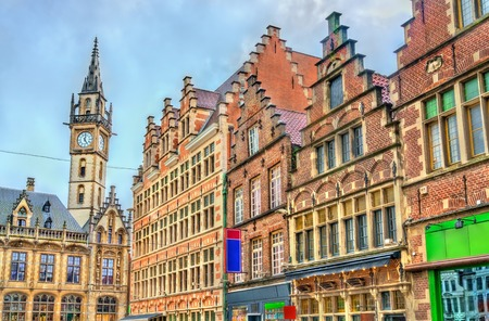 Traditional houses in the old town of Ghent, Belgium