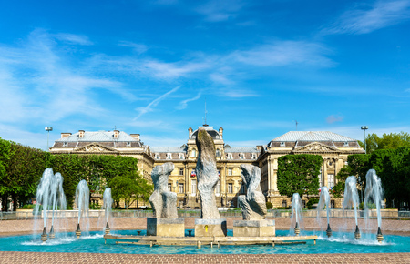 Fountain in front of the Prefecture of Lille, France