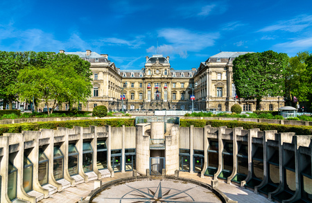 Amphitheatre and the Prefecture of Lille in the Republic Square. France Stock Photo