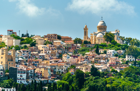 Notre Dame dAfrique, a Roman Catholic basilica in Algiers, Algeria