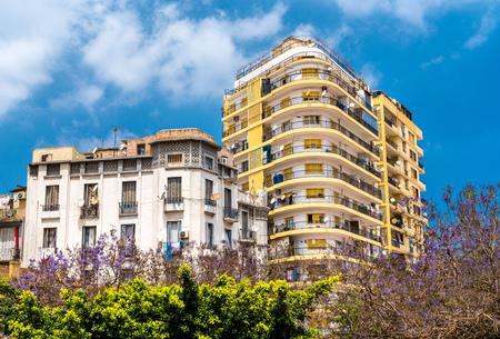 Buildings in Oran, a major city in Algeria Stok Fotoğraf