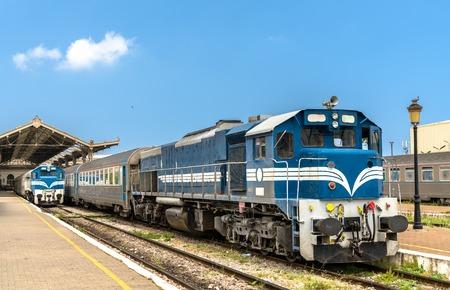 Passenger train at Oran Station in Algeria Stok Fotoğraf - 106071206