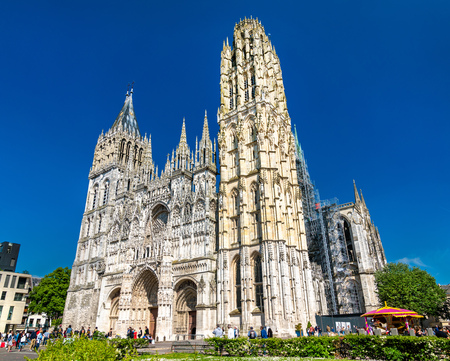 Cathedral Notre Dame of Rouen in France Stock Photo