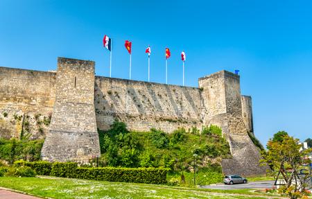 The Chateau de Caen, a castle in Normandy, France Archivio Fotografico