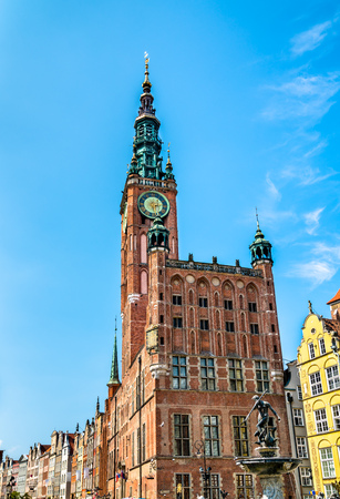 Historic town hall of Gdansk in Poland Stock Photo