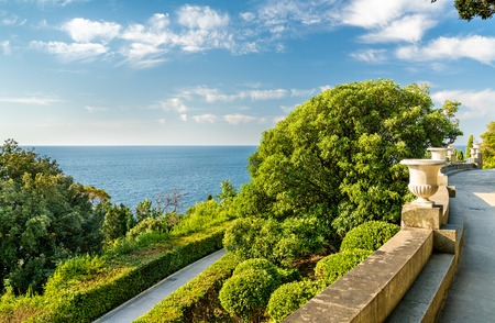 View of the Black Sea from the Vorontsov Palace in Alupka, Crimea