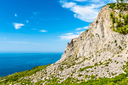 The Crimean Mountains and the Black Sea at Foros Stock Photo