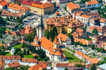 Saint Nicholas Church in the old town of Brasov, Romania