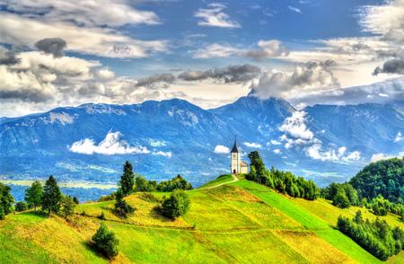 Saints Primus and Felician Church in Jamnik village, Slovenia Stock Photo