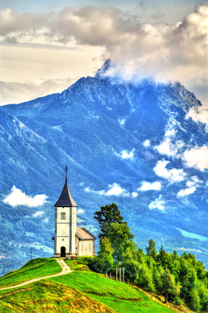 Saints Primus and Felician Church in Jamnik village, Slovenia Stock Photo - 116195061