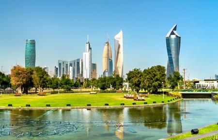 Skyline of Kuwait City at Al Shaheed Park