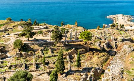 Ruins of Byblos in Lebanon, a   Heritage Site 版權商用圖片